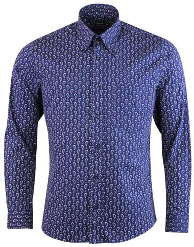 TOOTAL Retro 1960s Mod Paisley Button Down Shirt