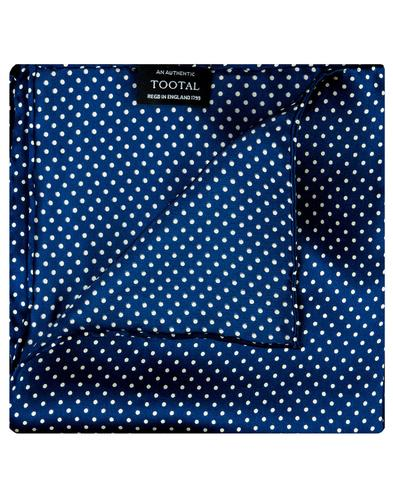 TOOTAL Mod Pin Dot Silk Pocket Square French Blue