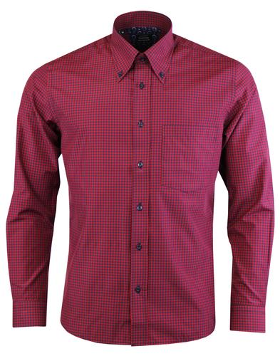 TOOTAL Mod Ivy League Button Down Gingham Shirt