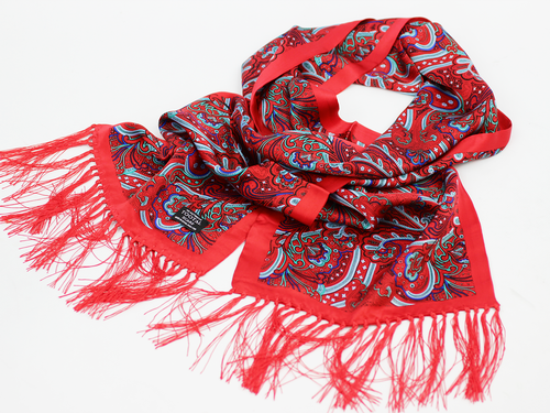 Abstract Paisley TOOTAL Retro 60s Mod Silk Scarf