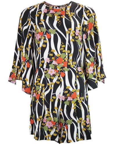 Hush TRAFFIC PEOPLE Retro Zebra Floral Playsuit