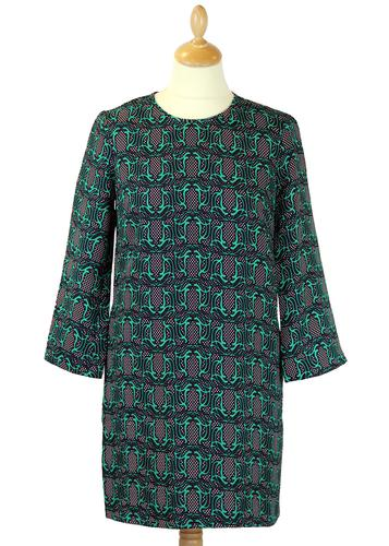 Penny TRAFFIC PEOPLE Retro 60s Tribal Print Dress