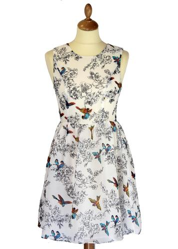 Birds of a Feather TRAFFIC PEOPLE Retro Prom Dress