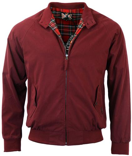 TROJAN RECORDS RETRO MOD HARRINGTON JACKET MAROON