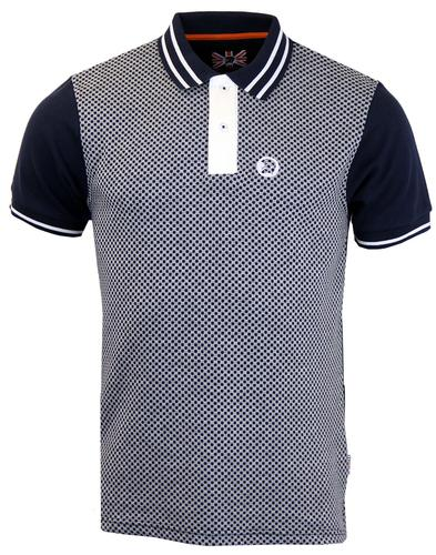 TROJAN RECORDS RETRO MOD SKA CHECK POLO NAVY