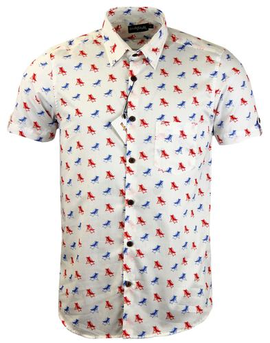 tuktuk retro mod pop art summertime deck check print shirt