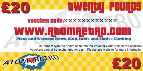 £20.00 Atom Retro Gift Voucher