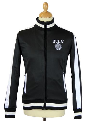 Bowmont UCLA Retro 70s Funnel Neck Track Jacket B