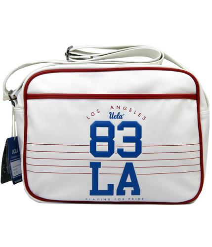 UCLA RETRO 70s 80s SHOULDER BAG WHITE