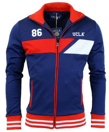 UCLA RETRO MOD 70s TRACK TOP NAVY