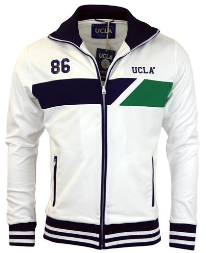 UCLA RETRO MOD 70s TRACK TOP WHITE