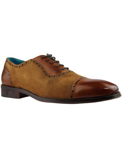 Theseus PAOLO VANDINI Mod Suede & Leather Brogues