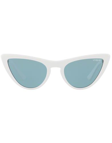 VOGUE Gigi Hadid Retro 50s Vamp Sunglasses White
