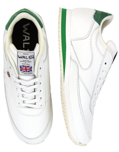 LA 84 WALSH Made In England Leather Trainers (W/G)