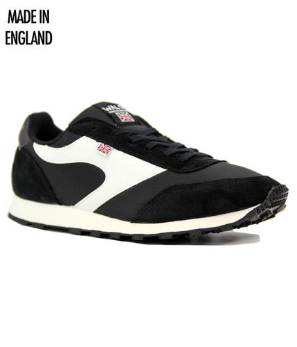 WALSH TRAINERS RETRO MOD LOSTOCK TRAINERS BLACK