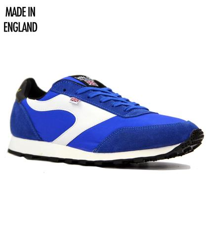 WALSH TRAINERS RETRO MOD LOSTOCK TRAINERS BLUE