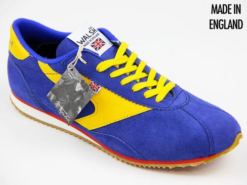 WALSH TRAINERS COBRA RACE BLUE SUEDE RETRO TRAINER