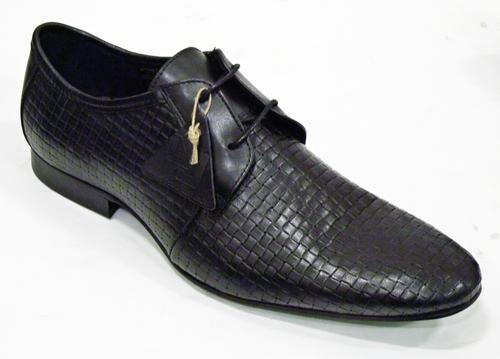 9a4f0da8c30 DELICIOUS JUNCTION Weaver Retro Mod Basket Weave Shoes Black
