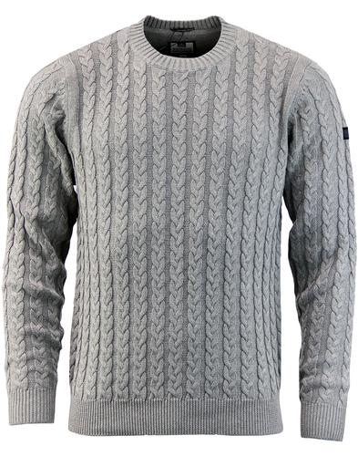 Woods WEEKEND OFFENDER Retro Cable Knit Jumper G