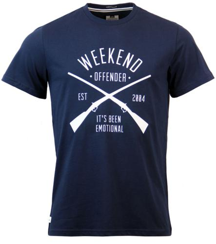Rifles WEEKEND OFFENDER Retro Military Logo Tee