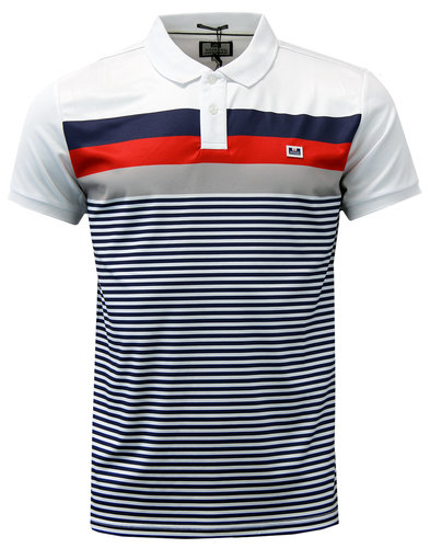 Moselle WEEKEND OFFENDER Retro Casuals Stripe Polo