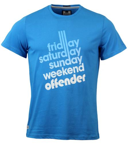 Sixty Hours WEEKEND OFFENDER Retro Indie T-shirt