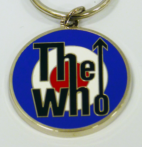 The Who Mod Target Retro Sixties Metallic Key Ring