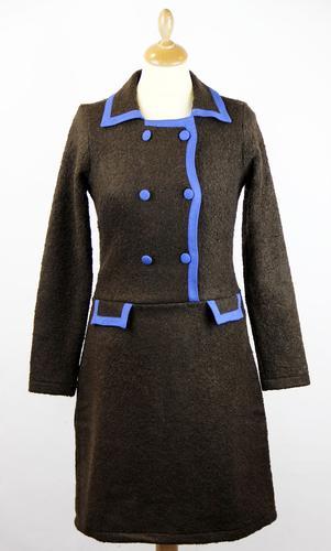 Wow To Go Seine Retro 60s Mod Winter Fabric Airline Dress