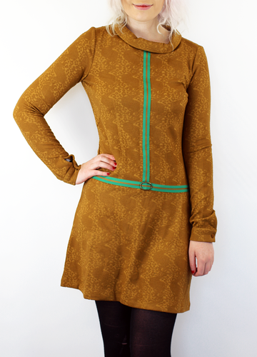 Digger WHO'S THAT GIRL Retro Mod 60s Dress Cognac
