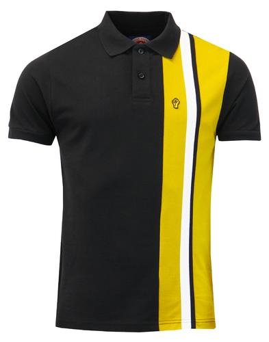 WIGAN CASINO Mod Racing Stripe Panel Pique Polo B