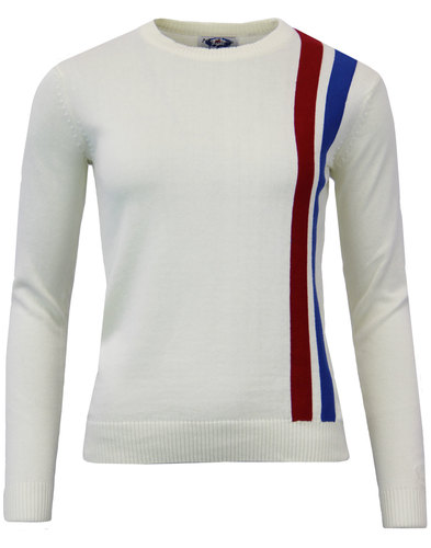 madcap england womens 60s mod racing jumper white