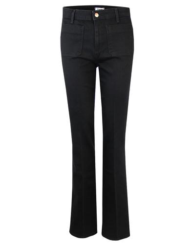 WRANGLER Retro 1970s Stretch Denim Flares (Black)