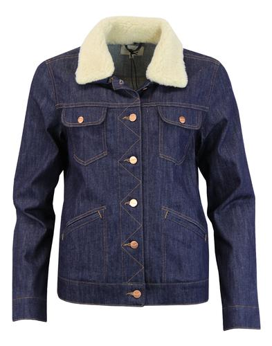 WRANGLER Womens Retro Sherpa Heritage Denim Jacket